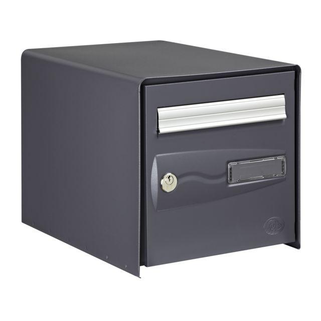 decayeux oceanis double face gris ral 7015 pas cher achat vente bo te aux lettres. Black Bedroom Furniture Sets. Home Design Ideas