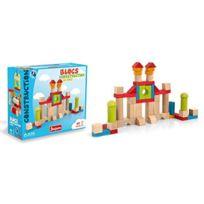 Jeujura - jeu de Construction en Bois, 52 Pieces