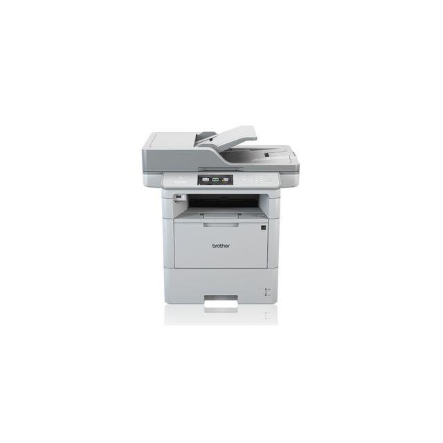 Brother Dcp-l6600DW Imprimante Laser multifonction 3-en-1 monochrome Vitesse d'impression jusqu'à 46 ppm Recto-verso automatique Résolution d'impression : 1200 x 1200 dpi Scanner : résolution (depuis la vitre du scanner) 1200 x 1200 dpi Copie : 40 ppm Bac