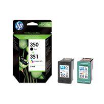 HP - SD412EE - Pack de 2 Cartouches d'encre 350/351 Noir et 3 couleurs