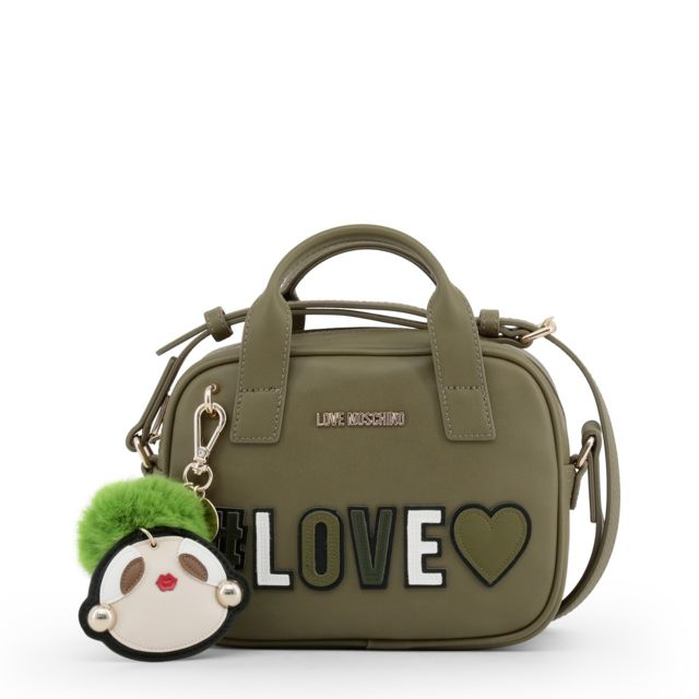 2bbdc77462 Buzzao - Sac à main kaki Love Moschino à bandoulière Vert - pas cher ...