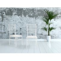 Kit A Faire - Lot De 1 Chaise Moderne Structure En Metal Blanc