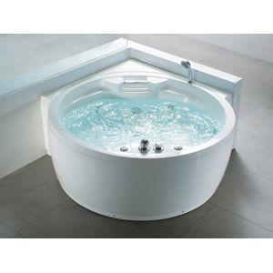 beliani baignoire baln o ronde haut de gamme milano 180cm x 113cm pas cher achat vente. Black Bedroom Furniture Sets. Home Design Ideas