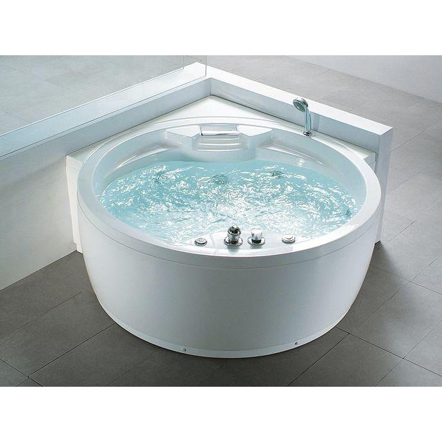 Beliani baignoire baln o ronde haut de gamme milano pas cher achat vente baignoire - Baignoire balneo haut de gamme ...