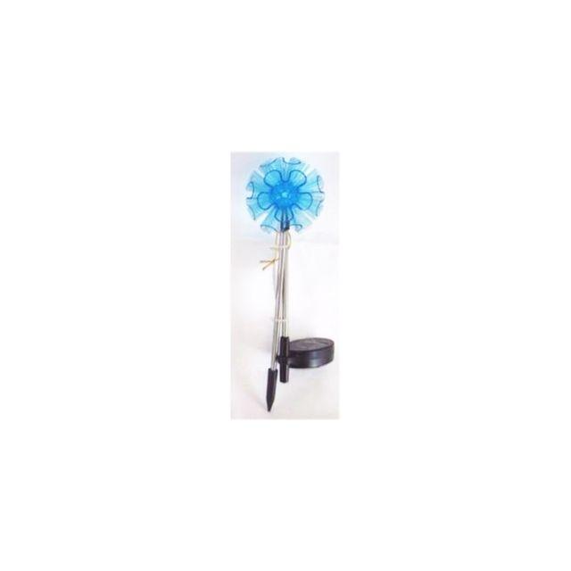 lampe solaire fleur eclairage d 39 ext rieur nergie solaire h 70 cm bleu pas cher achat. Black Bedroom Furniture Sets. Home Design Ideas