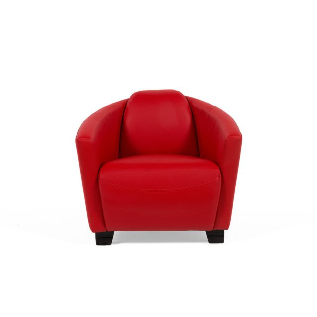 House Bay Fauteuil cigare en simili cuir rouge Brando