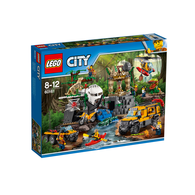 Lego City - Le site d'exploration de la jungle - 60161 Les ruines du temple dans la jungle de LEGO® City regorgent de secrets. L'ensemble comprend quatre véhicules, sept figurines, plus des figurines de léopard, de crocodile, de serpent,