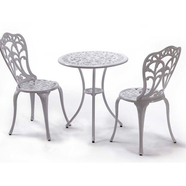 ensemble table 2 chaises jardin