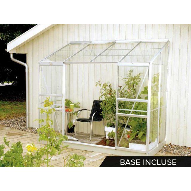 lams serre adoss e en verre ida base 3 m pas cher achat vente serres en verre. Black Bedroom Furniture Sets. Home Design Ideas