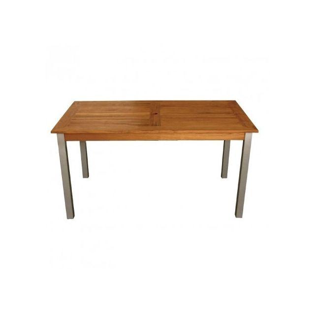 Materiel Chr Pro Table rectangulaire en bois et aluminium Bolero 1400 mm - Bois clair