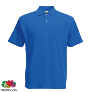 Polos Fruit of the Loom bleus homme