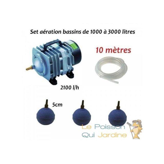 Aqua Occaz - Set aération et oxygénation pour bassin de jardin de 1000 à  3000 litres a7e95ed37fad