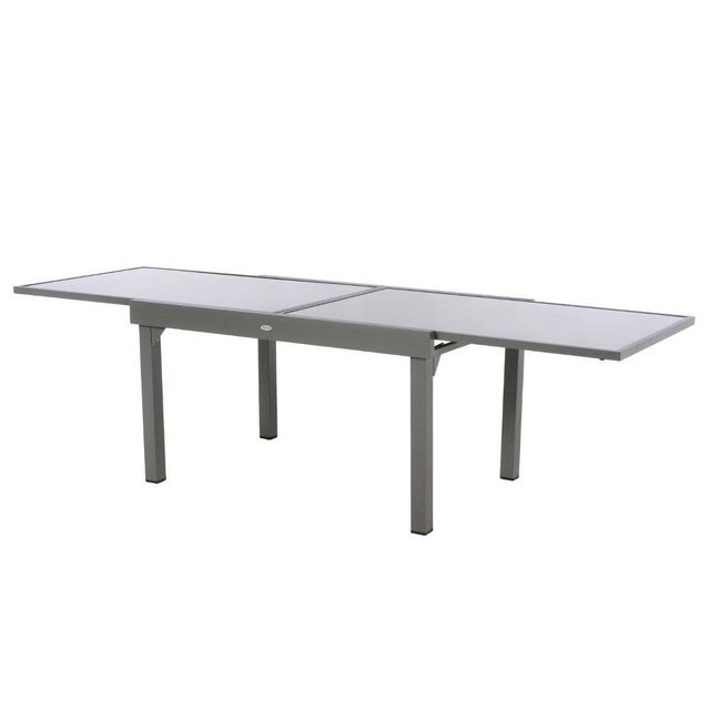 HESPERIDE - Table extensible rectangulaire en verre Piazza 6 ...