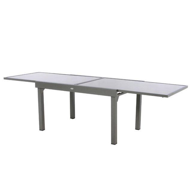 hesperide table extensible rectangulaire en verre piazza. Black Bedroom Furniture Sets. Home Design Ideas