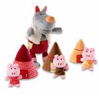 Lilliputiens - Marionnettes Loup et les 3 petits cochons