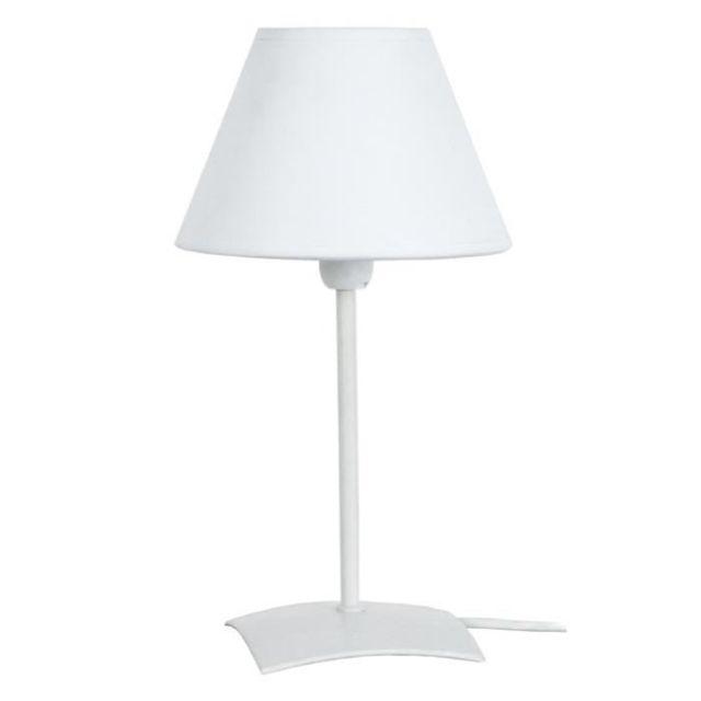 16x16x29 Kola Blanc Cm Poser Chevet Lampe De A Acier w0Nnvm8O