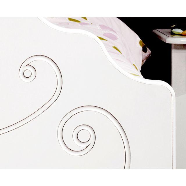 Last Meubles - Ensemble lit, chevet et armoire Valentine Blanc