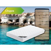 Altobuy - Chypre - Pack Matelas + Lattes 90x200