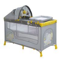 Lorelli - Lit parapluie bébé / Lit pliant à 2 niveaux Nanny 2+ jaune