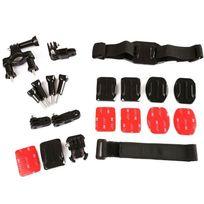 Yonis - Kit accessoire GoPro Hero support 7 en 1 multi fixations sport
