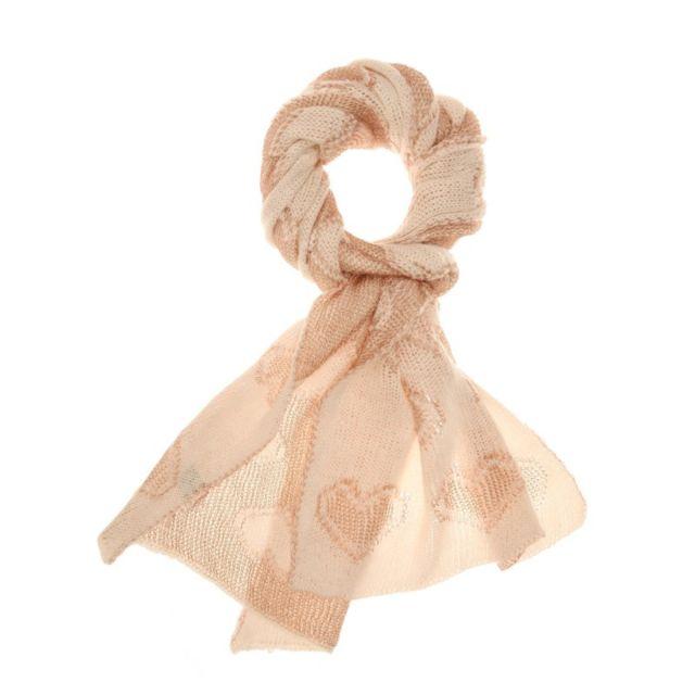 1c3a33eddb02 La Modeuse - Écharpe cœur maille irisée beige - pas cher Achat ...