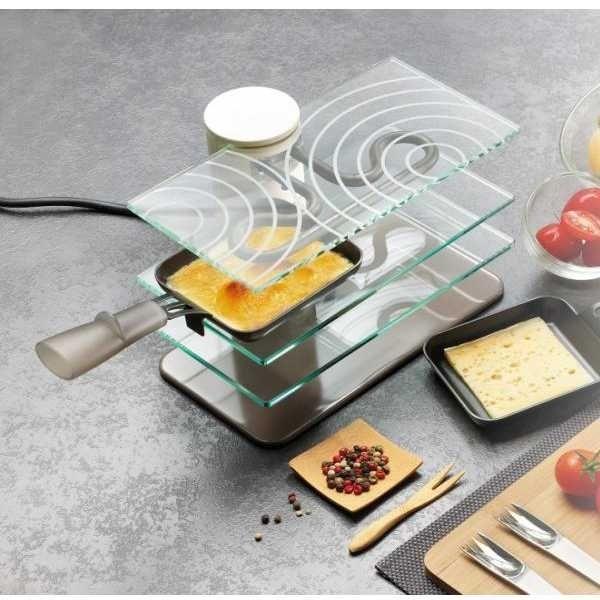 Lagrange Raclette Transparence, 2 coupelles 009204 Blanc