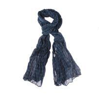 Kaporal 5 - Chèche Kaporal en coton bleu pétrole à motifs