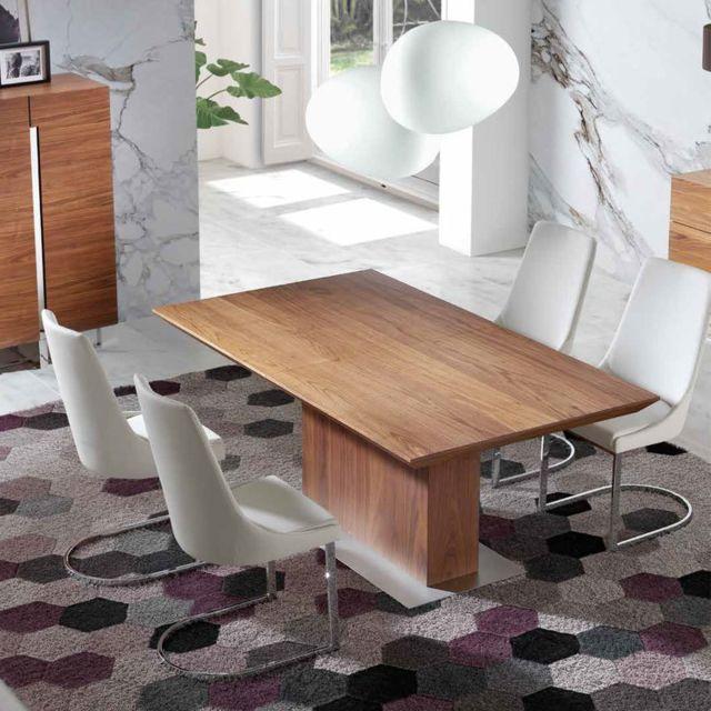 Chaise design blanche et chromé Seos