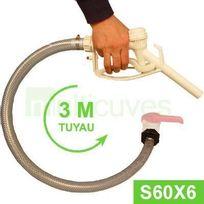 Multicuves - Kit Vidange cuve eau 1000 L S60X6 - Tuyau 3 m + Pistolet