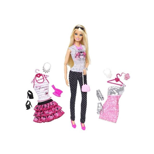 36d8f944929 Barbie Coffret poupée et tenues mode - Mattel