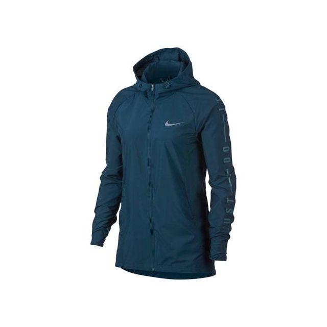 295a5cfd90a1 Nike - Veste Essential Running bleu femme Multicolour - XS - pas cher Achat    Vente Coupe-vent