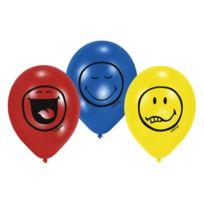Amscan - Ballons Smiley lot de 6