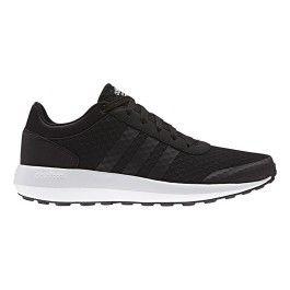 Adidas Chaussures neo Cloudfoam Race noir blanc pas cher