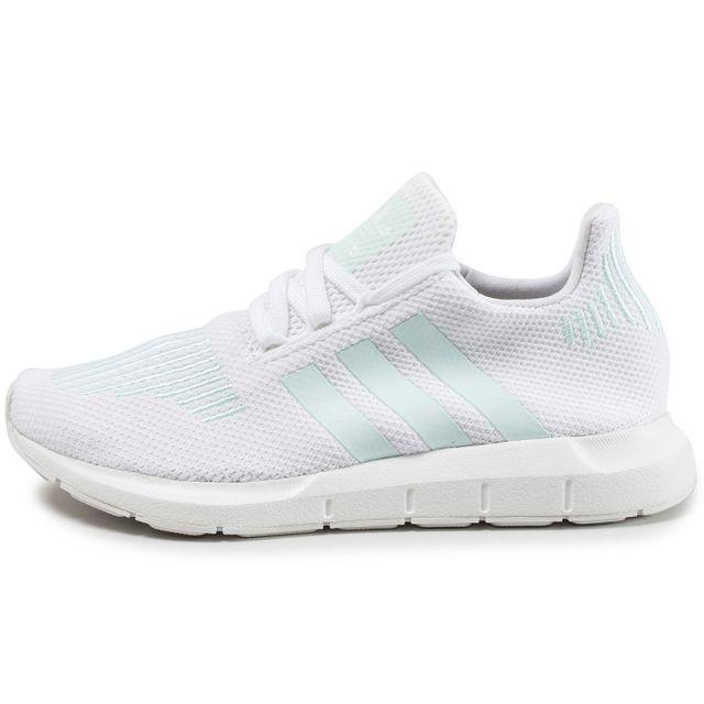Adidas originals Swift Run Blanche Et Verte pas cher