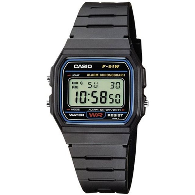 Casio Montre homme ou femme Reloj Digital F 91W 1YER pas  kwH2X