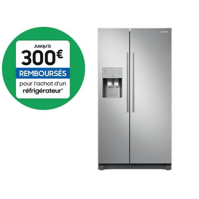 Samsung Réfrigérateur américain Side by Side - RS50N3503SA - Metal Grey