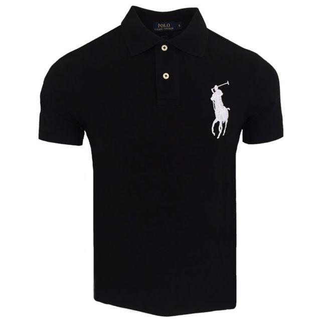 Ralph Lauren - Polo Big Pony Polo slim fit A12 noir et Blanc - pas cher  Achat   Vente Polo homme - RueDuCommerce dfcd437088a