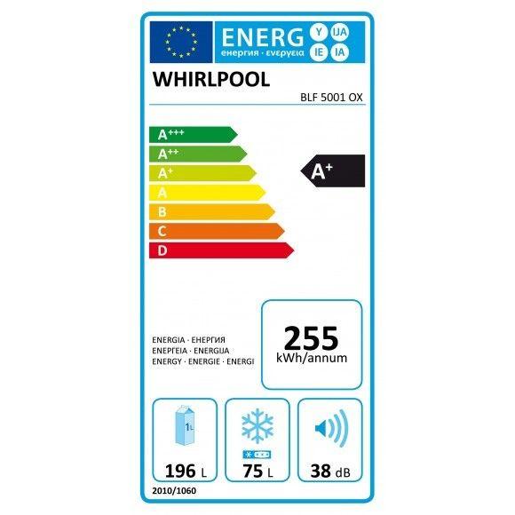 Whirlpool - Réfrigérateur - 271 L - A+ - 60 cm - Froid statique - Blanc