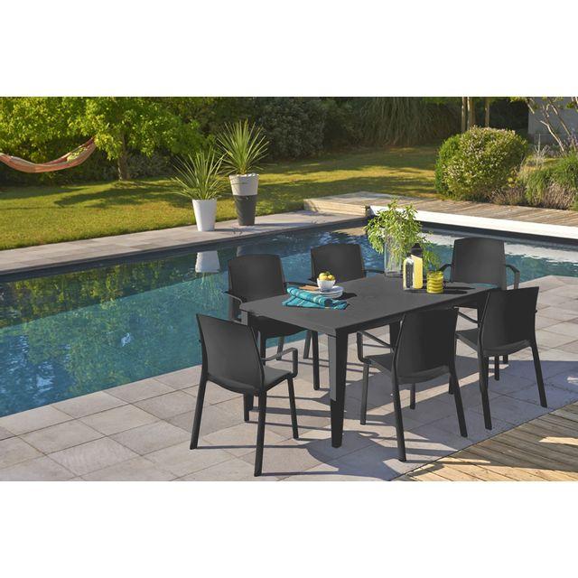 GROSFILLEX - TABLE ALPHA 150 X 90 ANTHRACITE 150cm x 70cm x 90cm ...