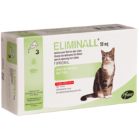 Zoetis - Pack 8 X Eliminall Chats 50 Mg 3 Pipetes