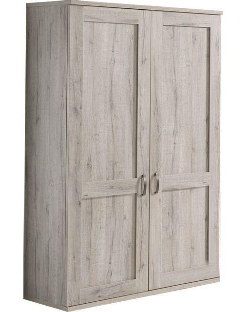 Comforium Armoire 125x200 cm à 2 portes coloris chêne