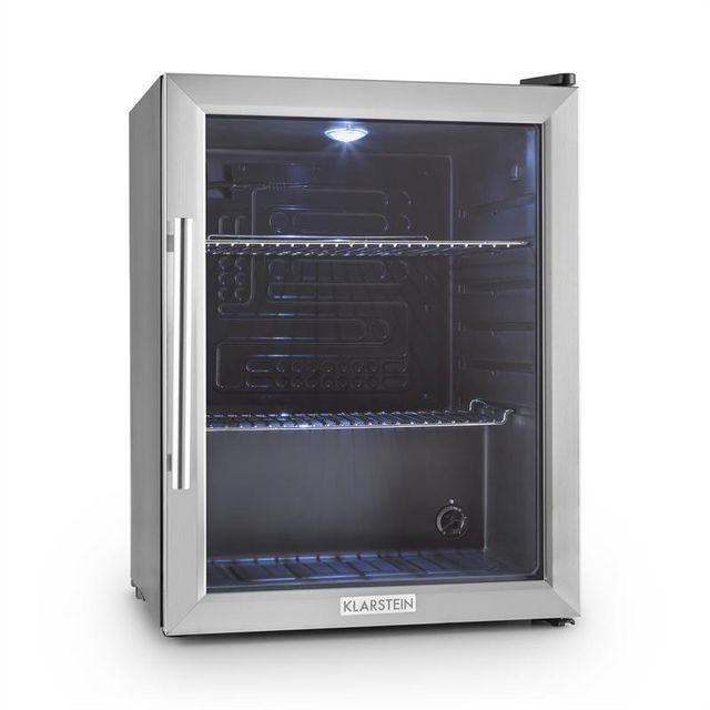 klarstein beersafe xl r frig rateur 60 l classe a acier porte en verre achat r frig rateur a. Black Bedroom Furniture Sets. Home Design Ideas