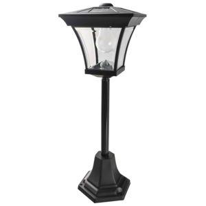 Provence outillage lampadaire solaire noir 4 leds sur pied blanc pas cher achat vente - Lampadaire de jardin solaire ...