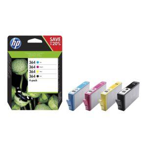 HP - Pack de cartouches d'encre 364 - CZ676EE - Couleur + Noir