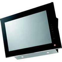 DE DIETRICH - hotte décorative inclinée 90cm 327m3/h verre noir/inox - dhv7962x