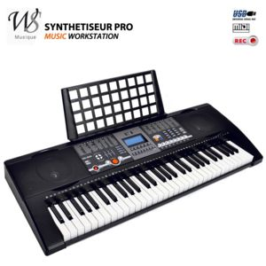 ws synthetiseur electrique clavier piano 61 touches midi. Black Bedroom Furniture Sets. Home Design Ideas
