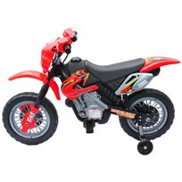HOMCOM - Moto cross électrique enfants à partir de 3 ans 6 V phares klaxon musiques 102 x 53 x 66 cm rouge et noir neuf 18