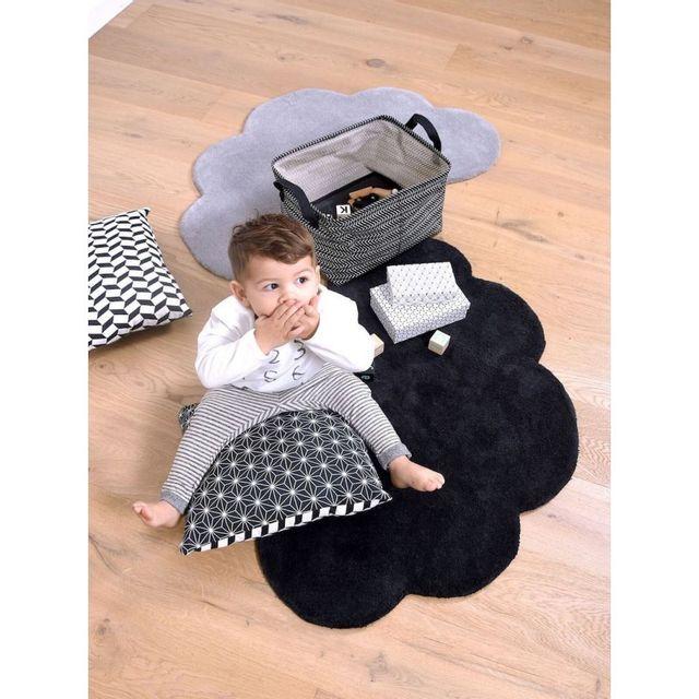 lilipinso tapis nuage bleu marine chambre b b par. Black Bedroom Furniture Sets. Home Design Ideas