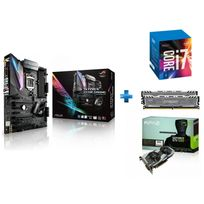 ASUS - Carte mère STRIX Z270E GAMING Socket 1151 - Chipset Z270 Kabylake + Processeur Intel Core i7-7700K 4.20GHz LGA1151 - KABYLAKE + Ballistix Sport LT 16 Go 2 x 8 Go DDR4 - 2400 Mhz - CAS 16 + GeForce GTX 1060 OC 6Go DDR5 192bit DP 1.4, HDMI 2.0b, Du