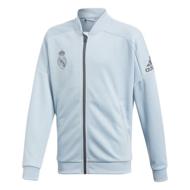 Adidas veste de surv tement junior real madrid 2017 2018 pas cher achat vente coupe vent - Coupe vent adidas junior ...